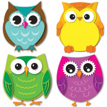 Colorful Owls Mini Cut-Outs - CD-120195