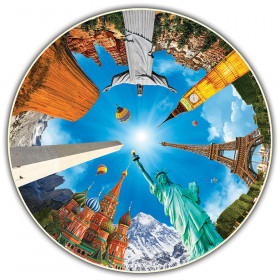 Round Table Puzzle, Legendary Landmarks, 500-Piece