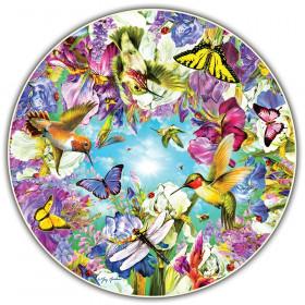 Hummingbirds Round Table Puzzle