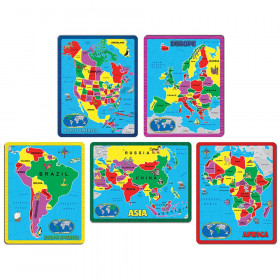 Continent Puzzle Combo Pack, 5 Puzzles