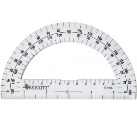 """Protractor 6"""", 180 degree, Clear"""