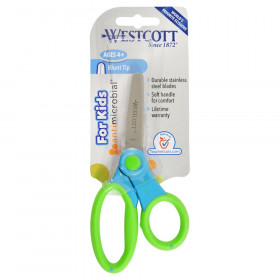 "Kids 5"" Scissors with Anti-Microbial Protection, Blunt, Colors Vary"
