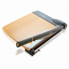 """TrimAir Titanium Wood Guillotine Paper Trimmer with Anti-Microbial Protection, 12"""""""