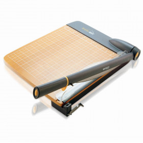 """TrimAir Titanium Wood Guillotine Paper Trimmer with Anti-Microbial Protection, 15"""""""