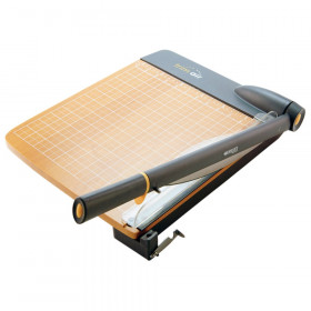 """TrimAir Titanium Wood Guillotine Paper Trimmer with Anti-Microbial Protection, 18"""""""