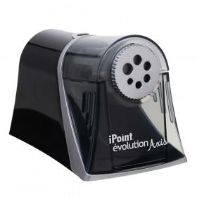 iPoint Evolution Axis Heavy Duty Electric Pencil Sharpener, Black/Silver