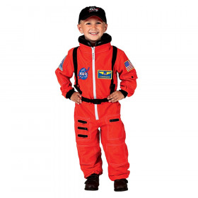 Orange NASA Astronaut Suit with Embroidered Cap, Size 4/6