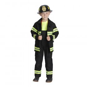 Black Firefighter Jacket & Bib Overalls w/Suspenders, Size 4/6