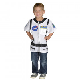 My 1St Career Gear White Astronaut Top One Size Fits Most Ages 3-6