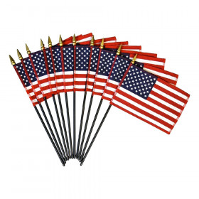 "Verona Brand U.S. Miniature Flag, 4"" x 6"""