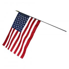 "U.S. Classroom Flag, 16"" x 24"" with Staff"