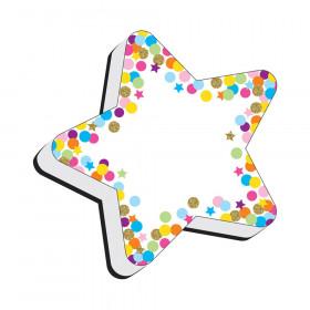 Magnetic Whiteboard Eraser, Star Confetti