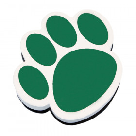 Magnetic Whiteboard Eraser, Green Paw