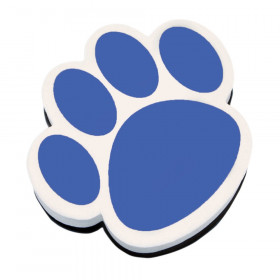 Magnetic Whiteboard Eraser, Blue Paw