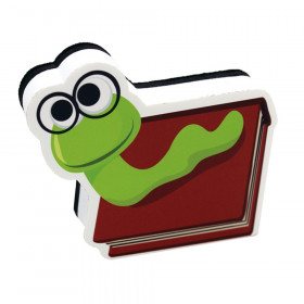 Magnetic Whiteboard Eraser, Bookworm