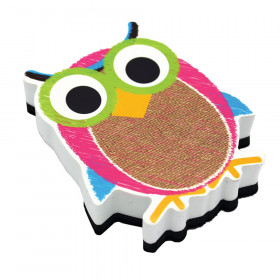 Burlap Scribble Owl Magnetic Whiteboard Eraser