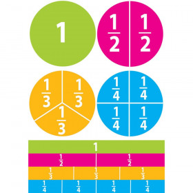 Math Die-Cut Magnets, Beginning Fractions