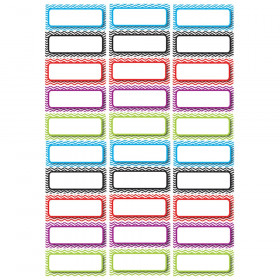 Die-Cut Magnetic Foam Color Chevron Labels/Nameplates, Pack of 30