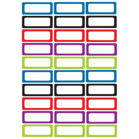 Die-Cut Magnetic Foam Assorted Color Labels/Nameplates, Pack of 30