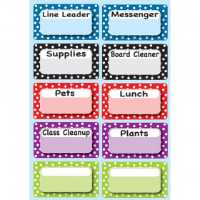 Die-Cut Magnetic Colorful Dots Classroom Jobs, 10 Pieces