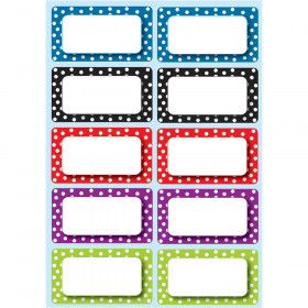 Die Cut Magnets Polka Dot Nameplates