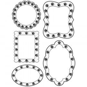 Die Cut Magnet Frames Black Paws