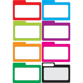 Die-Cut Magnetic Colorful Blank File Card, 8 Pieces