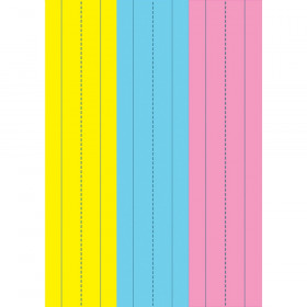 """Die-Cut Magnetic Pink/Blue/Yellow Sentence Strips, 2.75"""" x 11"""", Pack of 3"""