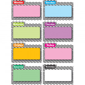 Magnetic Time Organizers Black Chevron File Days Of Week