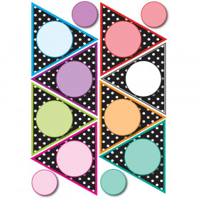 Die Cut Magnet Pennants Black White Dots