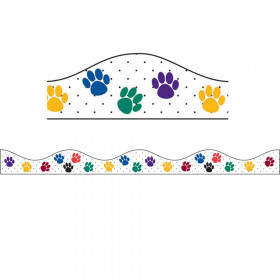 Magnetic Border, Multi-Colored Paws, 12'