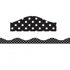 Magnetic Border, Black & White Dots, 12'
