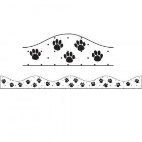 Magnetic Border Black Paws