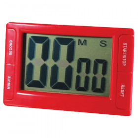 """Big Red Digital Timer 3.75"""" x 2.5"""" with Magnetic Backing and Stand"""