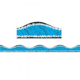 Magnetic Border, Blue Scribble Chalk, 12'