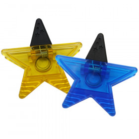 Star Magnet Clip, Blue or Yellow