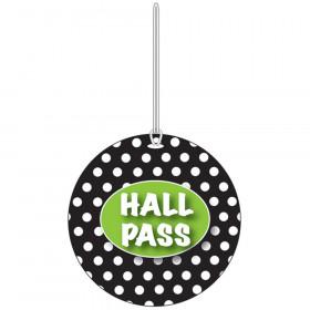 B W Dots Hall Pass