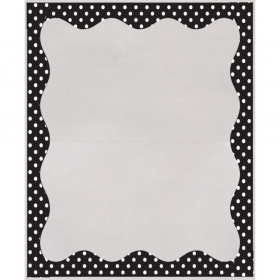 """Clear View Self-Adhesive Library Pockets, 3 1/2"""" x 5"""", Clear with B/W Dots Border, Pack of 25"""