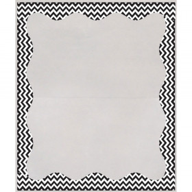 Blk Chevron Border 3 1/2 X 5 Clear View Self Adhesive Library Pockets