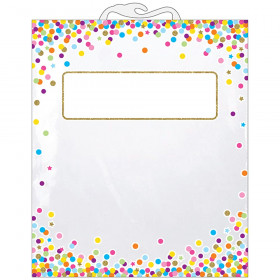 """Hanging Confetti Pattern Storage/Book Bag, 10.5"""" x 12.5"""", Pack of 6"""
