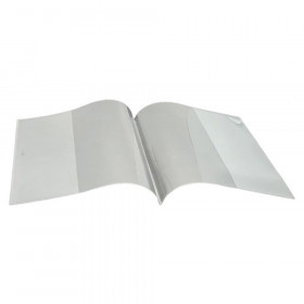 """Smart Poly Clear Book Cover, 6"""" x 8"""""""