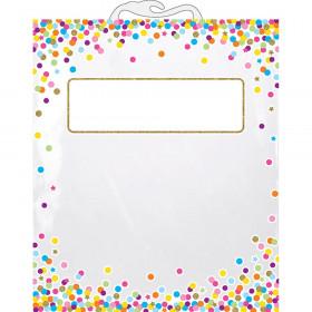 "Hanging Confetti Pattern Storage/Book Bag, 11"" x 16"""