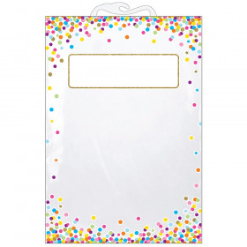 "Hanging Confetti Pattern Storage/Book Bag, 11"" x 16"", Pack of 5"