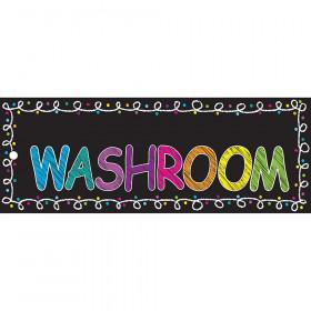 Laminated Hall Pass Chalk Washroom