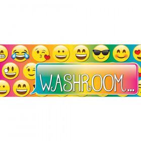 Laminated Hall Pass Emoji Washroom