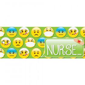 Laminated Hall Pass Emoji Nurse