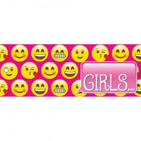 Laminated Hall Pass Emoji Girls