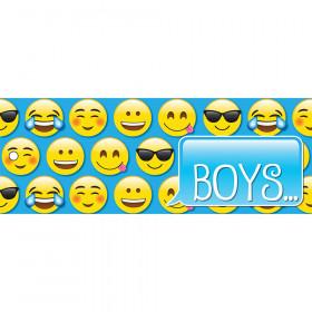 Laminated Hall Pass Emoji Boys