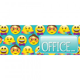 Laminated Hall Pass Emoji Office
