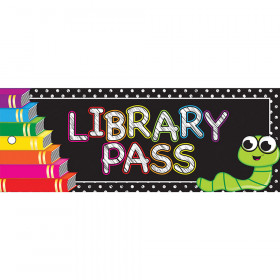 Library Pass 9X3.5 Books 2 Sided Laminated